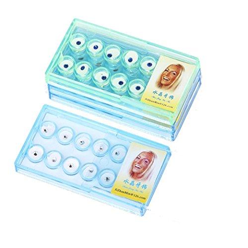Hffan Mode Sexy 100% REIN ohne schädliche Zusatzstoffe Zahnärztliches Kristall-Diamant-Inlay Patch-Kristalldiamant Zufällige Farbe Zahnschmuck Trend Glanz Funkelnd (Zufällig)