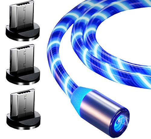 Top-Longer Magnetic USB Charging Cable with LED 2.4A High Speed USB to...