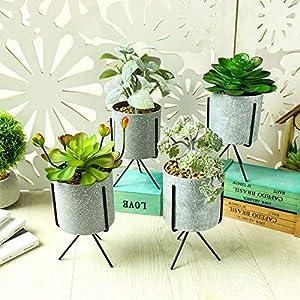 Silk Flower Arrangements LTJX Mini Fake Succulents Plants, Artificial Plants Fake Plants Potted, Perfect Decoration Gift for House Office Desk Kitchen, 4pcs