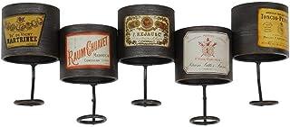 Organisation de rangement de cuisine Support mural pour casier à vin vintage pour 5 bouteilles en métal sur pied  Support...