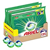 Ariel All-in-1 Pods Washing Liquid Laundry Detergent Tablets/Capsules, 135 Washes (45 x 3), Original (Packaging May Vary)
