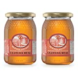 La Celda Real - 1 kg Miel Natural - Pack 2 tarros: Miel Acacia + Miel Acacia - 100% Natural - Tarro de cristal - Origen España