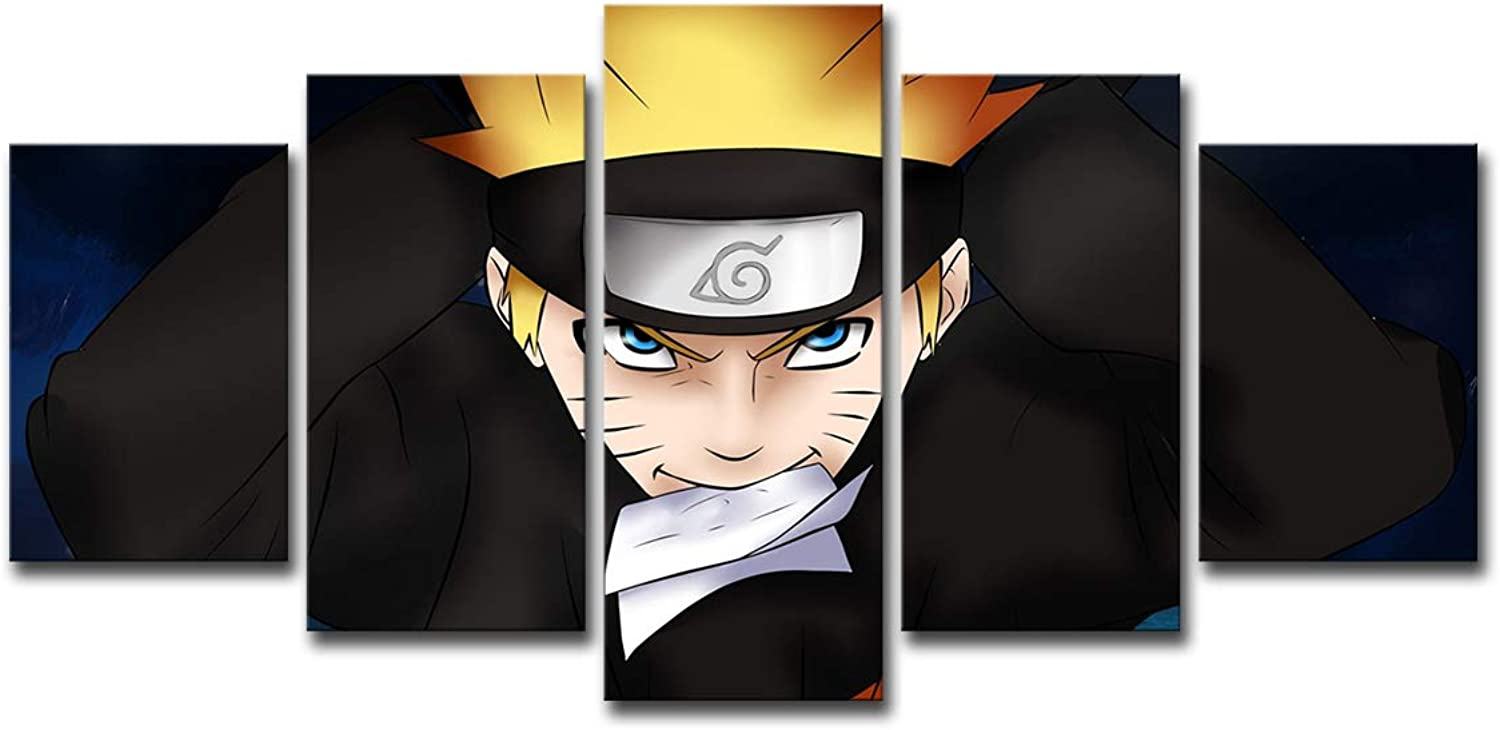 Panel HD Printed, Naruto Character Canvas Painting Wall Modular Picture Art Prints Home Decor Picture Panels Poster,Withinnerframe,S