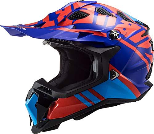 LS2 407002232M Casco Motocross MX700 Subverter Gammax, Unisex, Rosso/Blu, M
