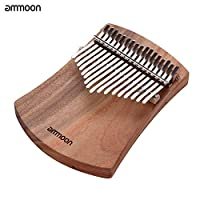 17-Key Thumb Piano Kalimba Camphorwood C Tone with Carry Bag Music Book Musical Scale Stickers Tuning Hammer Compananiment Chain Tassel Decoration Finger Protector Musical Gift