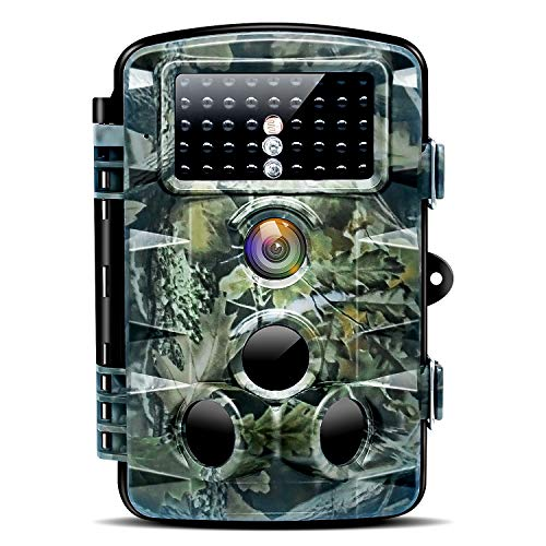 """Nycetek Trail Game Camera, Hunting Cameras with 120° Wide Angle Night Vision 0.2s Trigger Time 1080P 16MP Trail Camera with Low Glow and IP66 Waterproof 2.4"""" LCD 42pcs for Outdoor Wildlife Watching"""