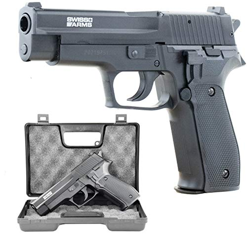 Softair Pistole Metall SIG SAUER P226 Replika mit Metallschlitten HPA-Serie BAX-System Kal. 6mm BB <0,5 Joule im GRATIS hochwertigen Transportkoffer