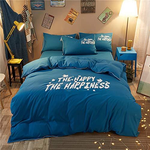 CZDXMKissenbezug Bettbezug Satz Von Vier Sätzen Von Bettbezug Einfach Schleifen Einfarbige Bettwäsche