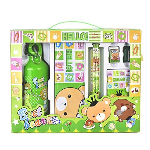 Cartoon Stationery Set, Essentials Supplies Kit Mini Collectible Stationery Set School Supplies for Boys Girls