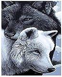 Diy Pintura Digital Pintura Digital Adulto Lobo Animal Adultos Niños Pintura Al Óleo Digital Set Lienzo Regalo Moderno Decoración Del Hogar Soporte