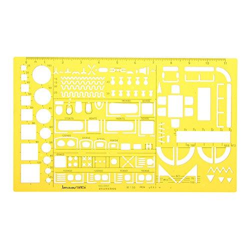 MASUNN Maßstab 1:50 für Innendekorationen, Architektonische Möbel, Zeichnung, KT Weicher Kunststoff Lineal Schablone