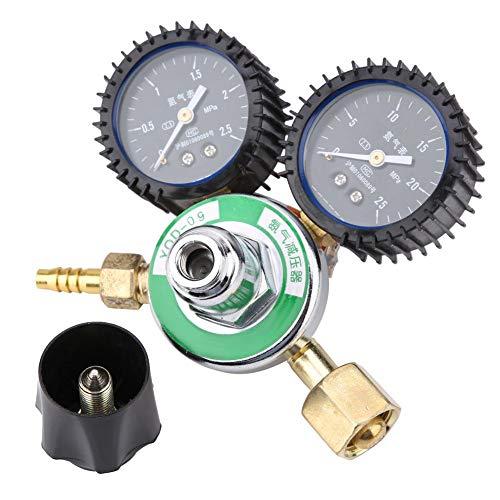 Válvula reductora de presión de nitrógeno, YQD-09 G5/8 de aleación de zinc, reductor de presión de nitrógeno, medidor regulador de soldadura
