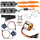 Dilwe Helicopter Fixed Wing Set, 2212 1400KV Motor+8060 Propeller+9G Servo+30A XT60 ESC RC Helicopter Accessory