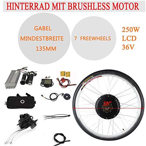 RANZIX Kit de conversión para bicicleta eléctrica de 28 pulgadas, 250 W/1000 W, rueda trasera, motor de bicicleta eléctrica (36 V, 250 W, con rueda trasera)