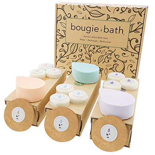 Handmade Spa Bath Gift Set - USA Made 3 Relaxing All-in-One...