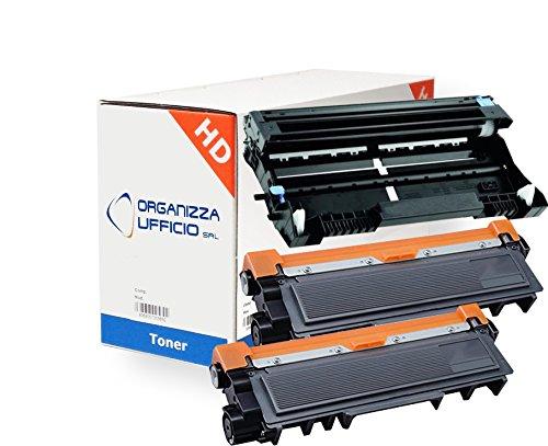 Organizza Ufficio Toner 2 X O-TN2320 + Tamburo 1X DR2300 Compatibili con Brother HL-L2300D, HL-L2340DW, HL-L2360DN, HL-L2365DW, DCP-L2500D, DCP-L2520DW, DCP-L2540DN, MFC-L2700DW, MFC-L2740DW, DCP-L2560DW, MFC-L2720DW.