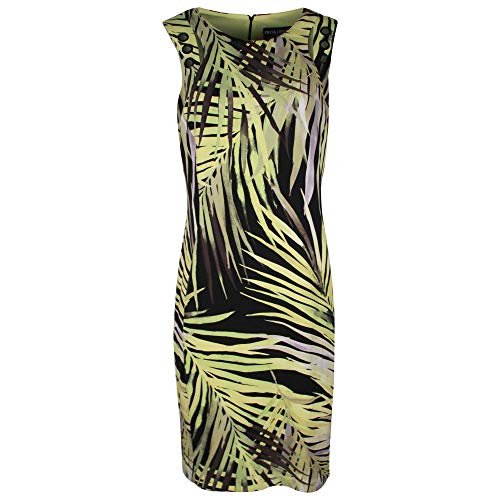 Frank Lyman Black & Green Sleeveless Palm Print Dress 14 UK Black Multi