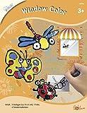 MAMMUT 157006 - Bastelset, Window Color, Fenstermalen, Komplettset mit 3 Vorlagen, 1 Folie, 4 Fenstermalfarben und Anleitung, Kreativset für Kinder ab 3 Jahre -