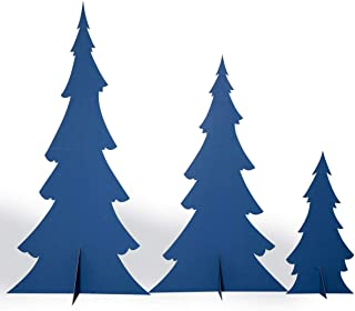 Anderson's Snow-Trimmed Blue Pine Trees Cardboard Kit, Set of 3