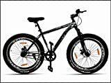 CAYA Warrior 26 inches Wheel Unisex Bicycle with Front Shocker, Dual Disc Brakes Semi Fat Freeride...