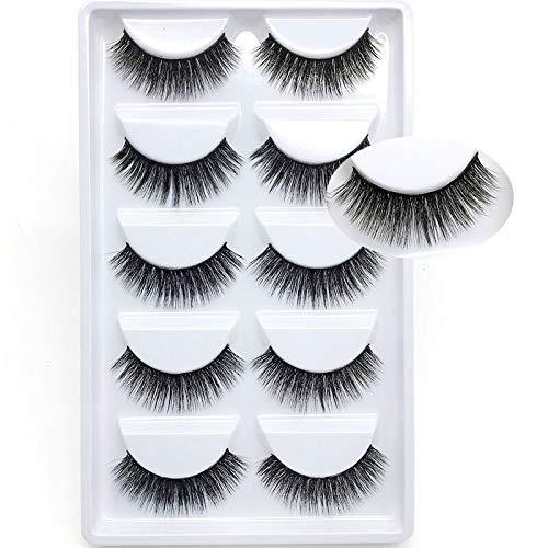 QH Short Of Five Pairs Of False Eyelashes Naturally Thick Mink Eyelashes 3D Soft Black Mink Eyelash Makeup False Eyelashes False Eyelashes (Color : E30)