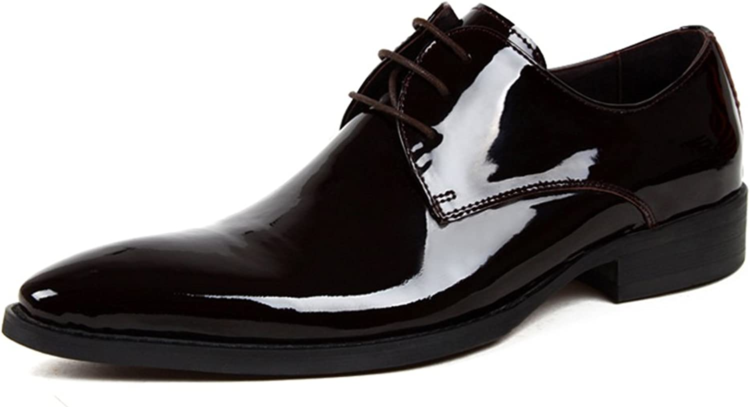 Men's leather shoes Business Wedding shoes Formal Wear Pointed Bright shoes Bridegroom Marry