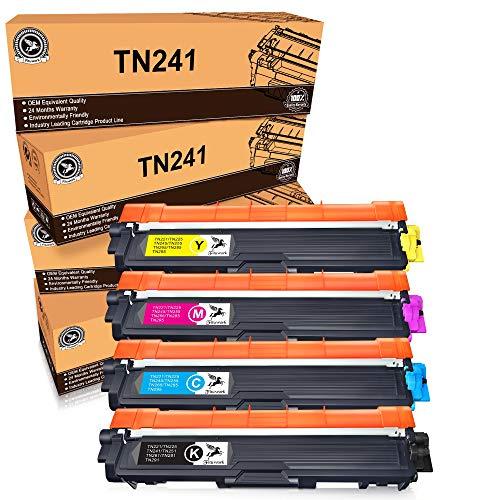 FITU WORK Cartouche de Toner Compatible Remplacement pour Brother TN241 TN245 pour DCP-9020CDW DCP-9015CDW HL-3140CW HL-3150CDW HL-3170CDW MFC-9140CDN MFC-9130CW MFC-9330CDW MFC-9340CDW(4 Paquets)