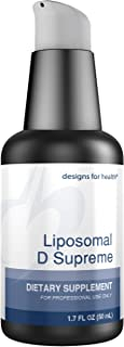 Designs for Health Liposomal D Supreme 2500 IU D3 Liquid Complex + Vitamin K1 + K2 as MK-7 (100 Servings, 1.7 Ounces)