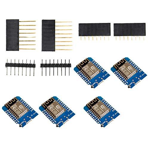 Development Board Wifi Jammer Esp8266 Internet Mini Schild D1 bewegliches drahtloses Modul für Arduino Starter Kit Programmierung 5pcs