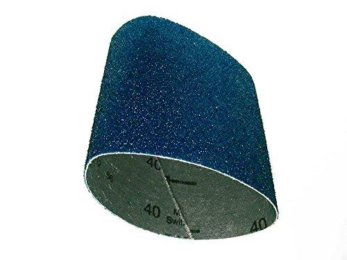 """CS Unitec 42080 PTX Zirconium Grinding Belt Sleeve, 80 Grit, 3-1/2"""" Diameter x 4"""" Wide, (Pack of 10)"""
