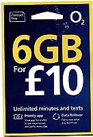 「O2 」O2【イギリス含むヨーロッパ各国対応】 プリペイド シムカード ヨーロッパ用6GB ヨーロッパ、アジア、アメリカ使用可能( 6GB さらに現地通話無制限 3000 SMS 30日間)