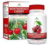 Montmorency Cherry Capsules - High Strength 10:1 Extract - Suitable for Vegetarians - 90 Capsules (3 Month Supply) by Earths Design by Earths Design