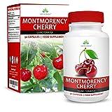 Montmorency Sauerkirschen – Hoch Wirksamer 10:1 Extrakt – Sour Cherry Extract - Geeignet für Vegetarier - 90 Kapseln (3 Monate Vorrat) von Earths Design
