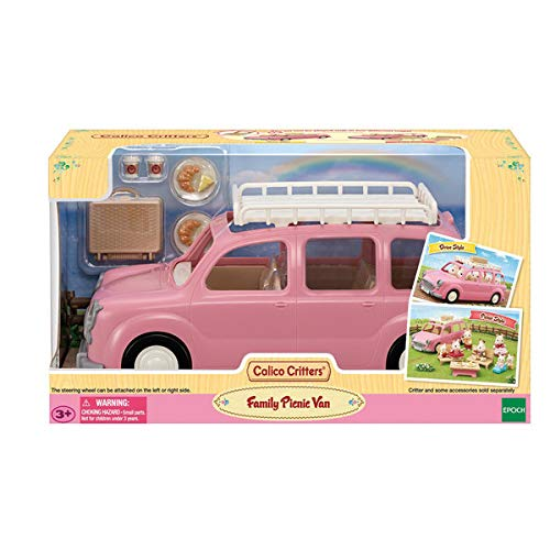 Calico Critters Family Picnic Van, Toy Vehicle for Dolls with Picnic Accessories