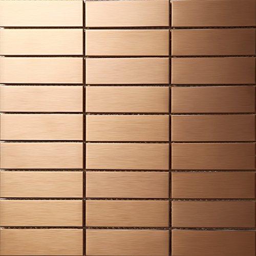 Striscia Mosaico Arcuato Art Deco metallo mosaico acciaio inossidabile Mosaico muro300*300mm--Cucina Backsplash/Parete da bagno/decorazione domestica(SA398)