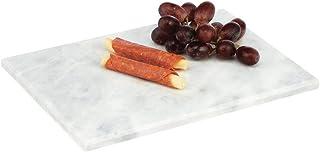 mDesign Plato rectangular para servir – Base de mármol pequeña para cocina comedor baño o dormitorio – Bandeja para tart...