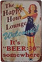 レトロおかしい金属錫サイン8 x 12インチ(20 * 30 cm) ビールブリキ看板スイミングプールビールワインパブクラブカフェホームレストラン壁の装飾アートサインポスター(4-ju-10)