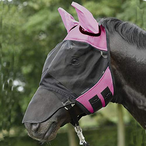 BUSSE everline Fliegenmaske FLY COVER PRO, pink/schwarz, Vollblut