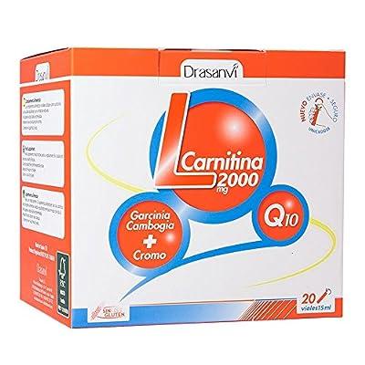 L-Carnitine 2000 mg Drasanvi with Coenzyme Q10 and Garcinia Cambogia 20x15 ml vials by Drasanvi