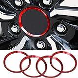 Wcnsxs 4 Uds Llantas centrales de Rueda de Coche Tapa de Cubo Logo decoración Anillo Cubre aleación de Aluminio Rojo, para Toyota Camry 2018 2019 Accesorios de Estilo de Coche