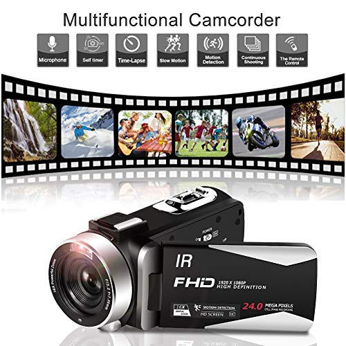 Videocámara Videocamara Full HD 1080P 30FPS Videocámara Cámara IR ...