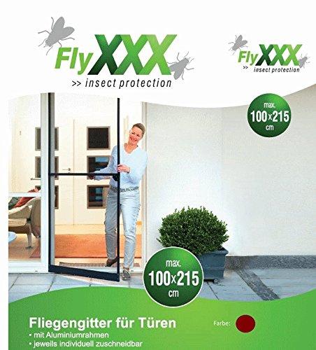 FlyXXX - Zanzariera per porte in alluminio, vari colori, Marrone