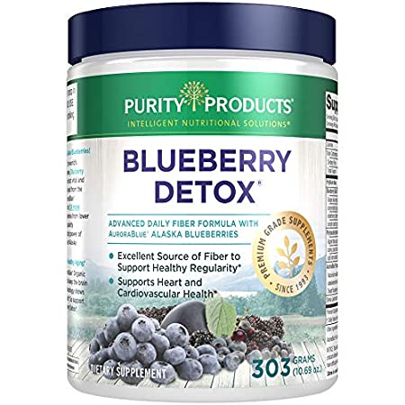 Detox products Advanced Blueberry Detox Daily Fiber Formula by Purity Products – Featuring