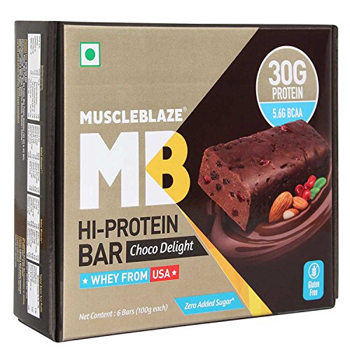 MuscleBlaze Protein Bar 100g (30g protein) Chocolate (pack
