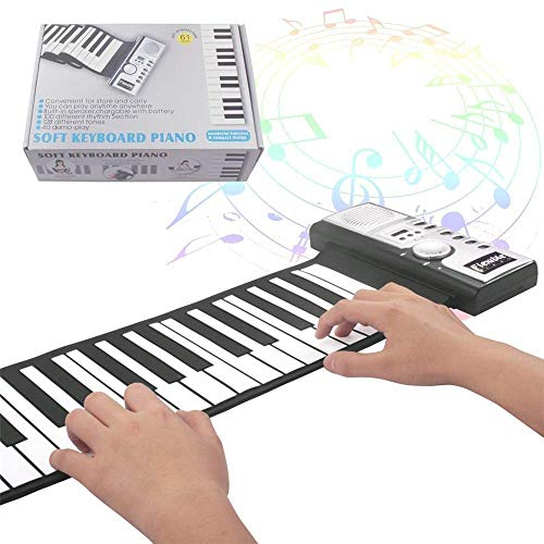 Fantastic Prices! Sikungjlk Portable Piano Digital Easy-to-play Keyboard Piano Foldable 61-key Flexi...