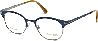 TOM FORD Eyeglasses FT5382 090 Shiny Blue 50MM