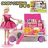 Kinder Campus Bus Food Trucks Spielzeug/Licht Soundeffekte Set/Kleines Mädchen Spielhaus Modell...
