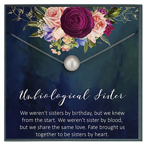 Grace of Pearl - Collar para hermanas no biológicas con texto en inglés 'Grace of Pear', 'Best Friendship', 'Big Little Sorority'