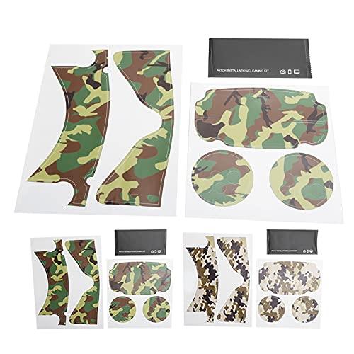 Mxzzand Controlador VR Pegatinas para Auriculares Pegatina Protectora VR Pegatinas de PVC con Cubierta de Piel Accesorio Protector(Camuflaje Verde Militar)