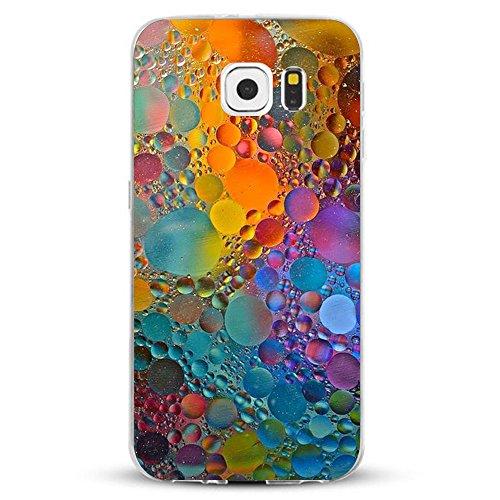 Custodia per Galaxy S7 Edge Cover Ultra Slim TPU Crystal Clear Morbido Copertura Cover Anti-Scratch Antigraffio Silicone Marmo Design Protettivo Cases posteriore per Samsung Galaxy S7 Edge (Marmo)